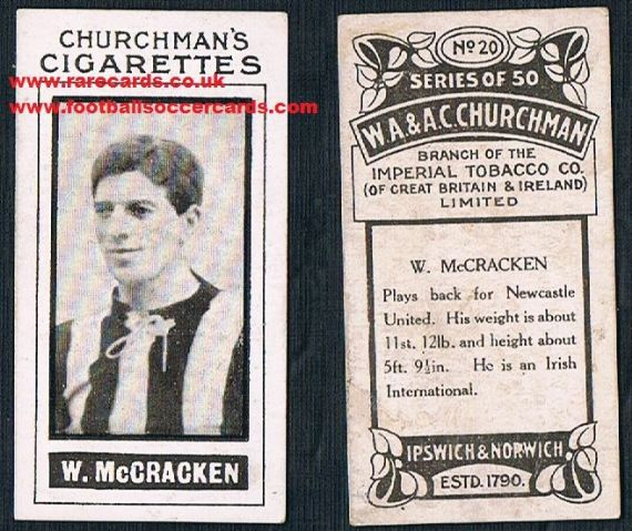 1914 McCracken 20 Churchman Newcastle